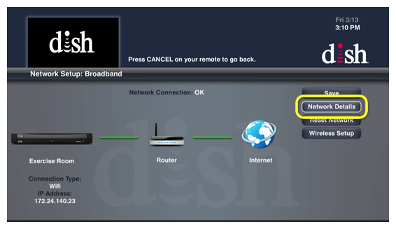Dish Network Receivers >> Receiver to Broadband   MyDISH   DISH Customer Support