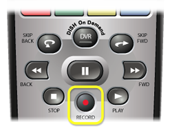 Record button on DISH remote