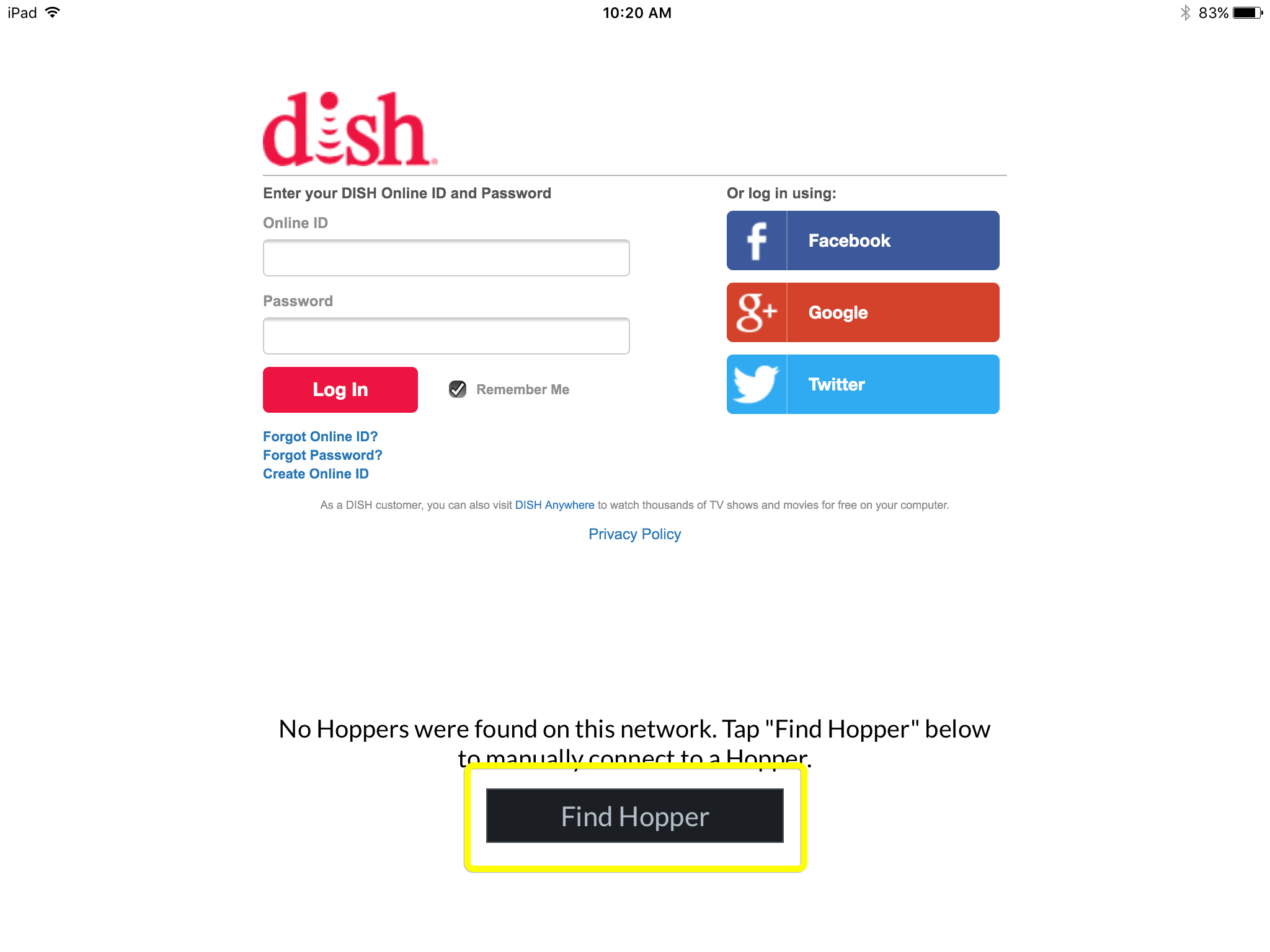 Dishanywhere log in and out mydish dish customer support pairing to hopper kristyandbryce Images