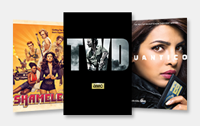 Shameless, Walking Dead, Quantico