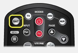 SAT button on 40.0 remote