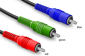 Blue, green and red Component cable