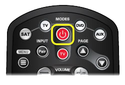 Power button on 40.0 remote