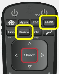 Guide and Options buttons on 52.0 remote