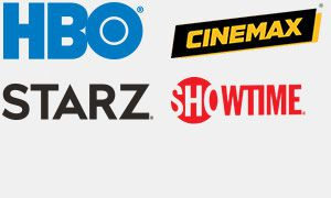 HBO, Cinemax, Starz, & Showtime Logos