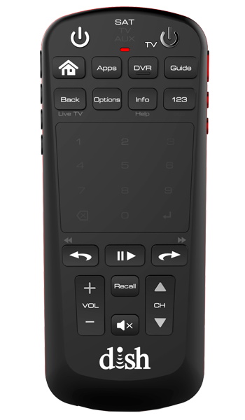 front view of voice remote