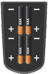 four batteries in remote