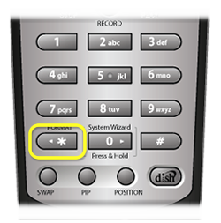 Star Button on number pad of DISH remote