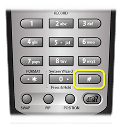 Pound/hash button on number pad of DISH remote