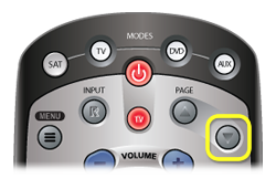 Page Up button on DISH remote