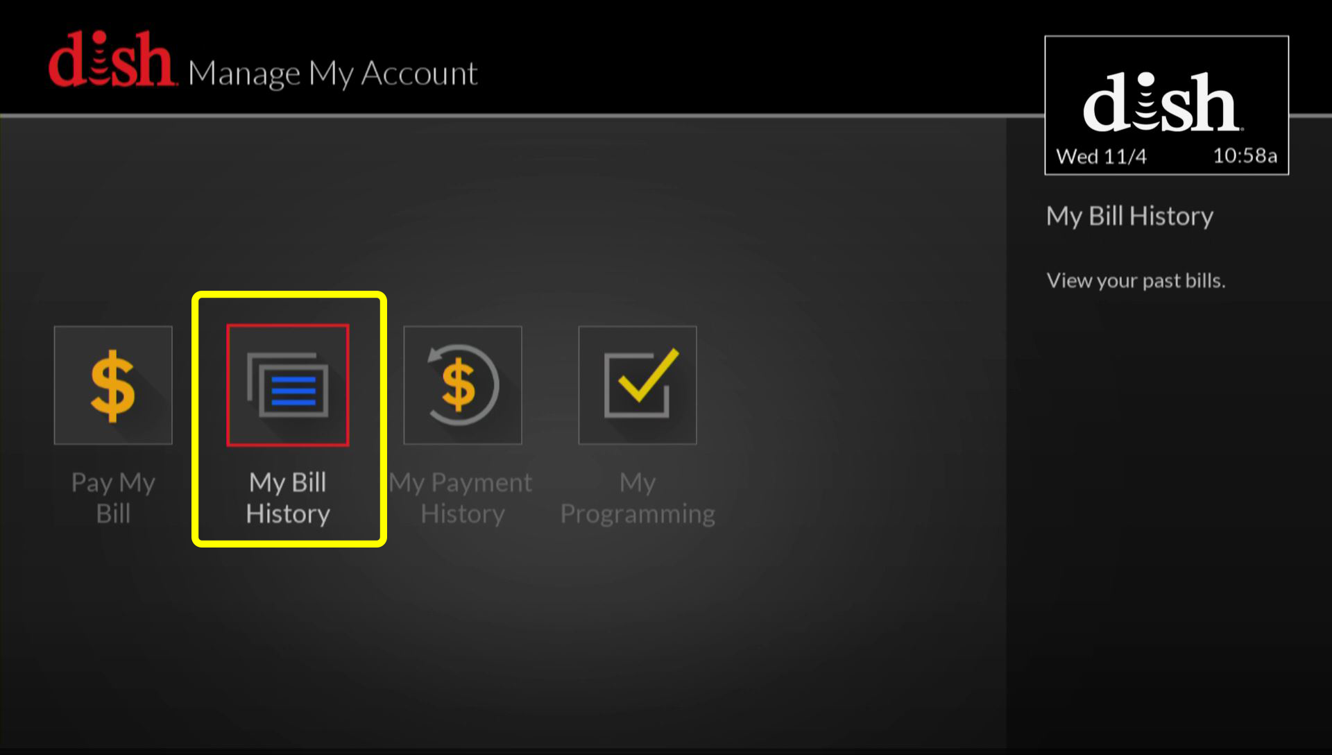 how to manage my account on a hopper mydish dish customer support