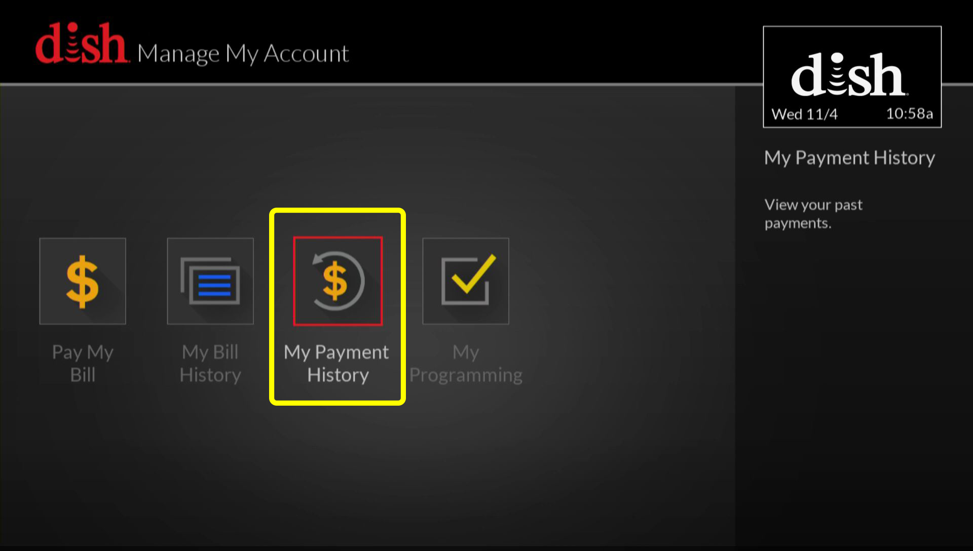German customer account create/downloader - Select My Payment History