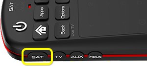 SAT Button on 50.0 remote (first button from the top on the left edge)