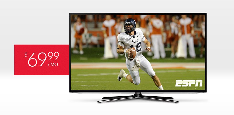 $69.99/mo | ESPN included in America's Top 120 Plus