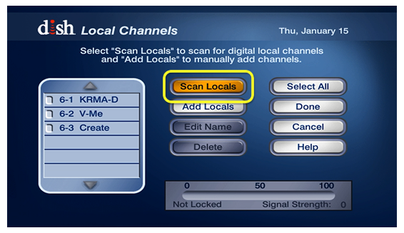 Scan Locals button