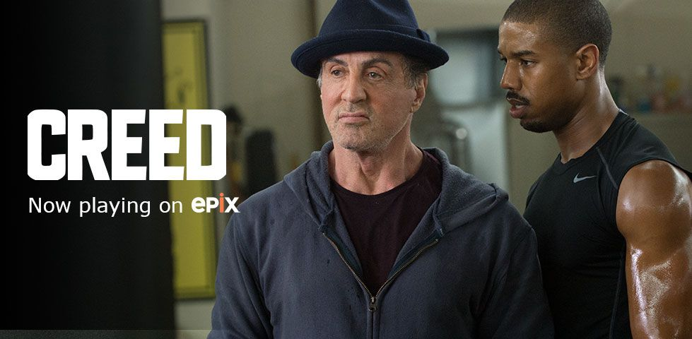 Creed now playing on EPIX