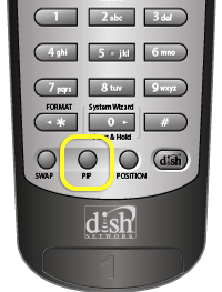 P.I.P. button on DISH remote