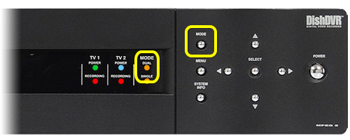 dual mode indicator light and mode button