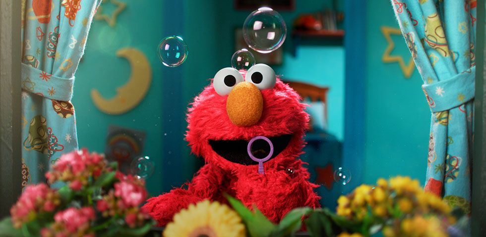 Elmo on Sesame Street