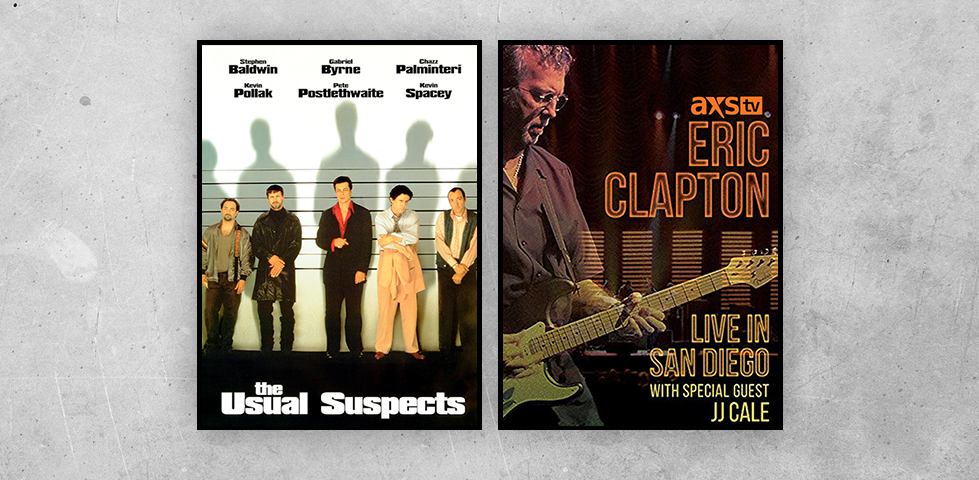 Featured programming on DISH Studio Ch. 102 for January includes The Usual Suspects and Eric Clapton Live in San Diego