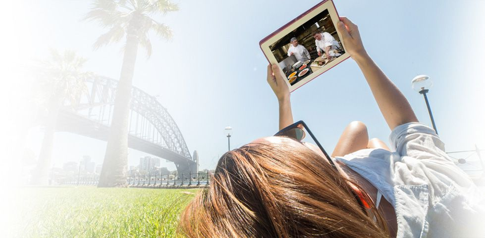 Watch your content from your smartphone or tablet with DISH Anywhere
