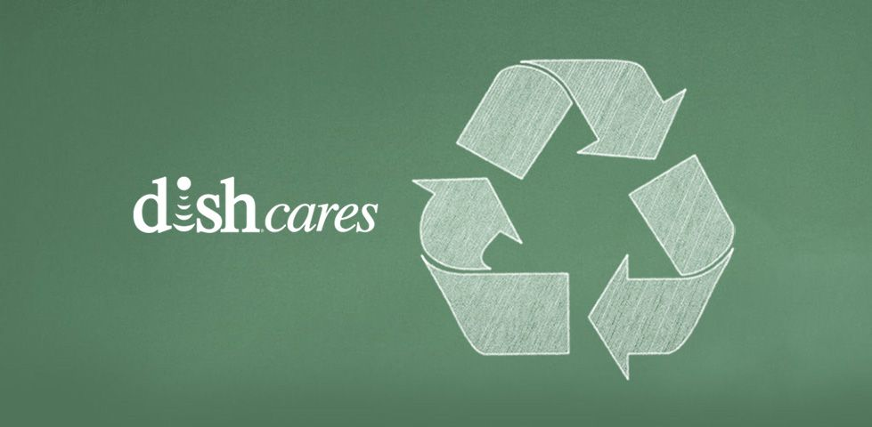 DISH Cares: recycling symbol