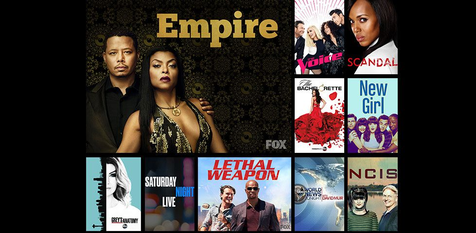 popular shows on your local networks, like Empire on FOX, The Voice, and more