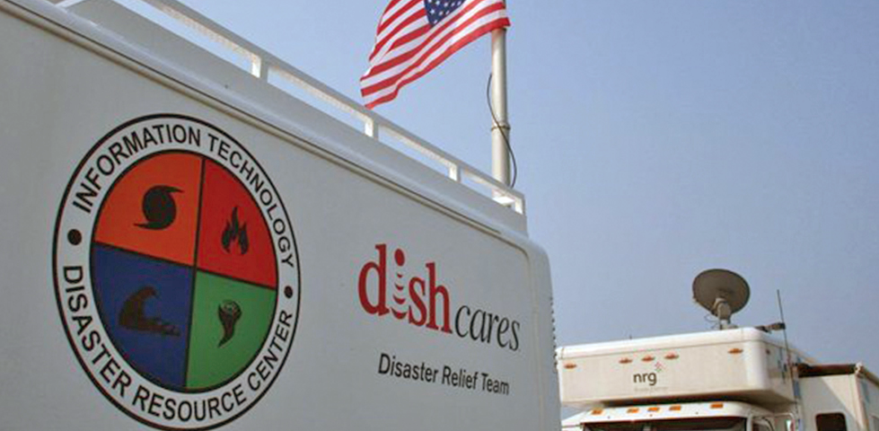 DISH Cares disaster relief truck