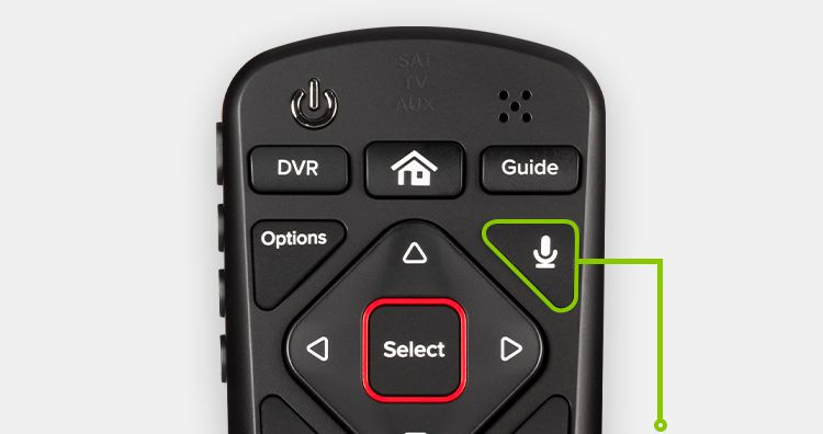 Microphone button on DISH voice remote