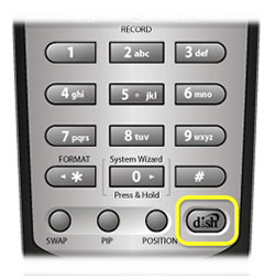 DISH HOME button on 21.0 remote (bottom left button)