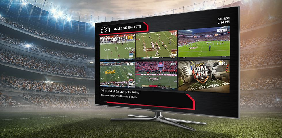 DISH Multi-View showing six college football games at once