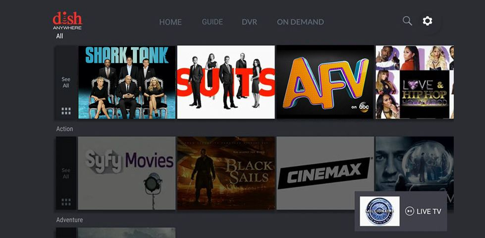 DISH Anywhere App on the Amazon Fire TV Stick