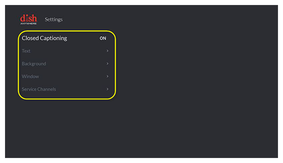 Closed Captioning preferences on Fire TV