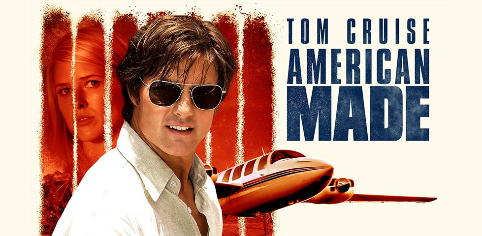 Tom Cruise in AMERICAN MADE, now playing on DISH Cinema