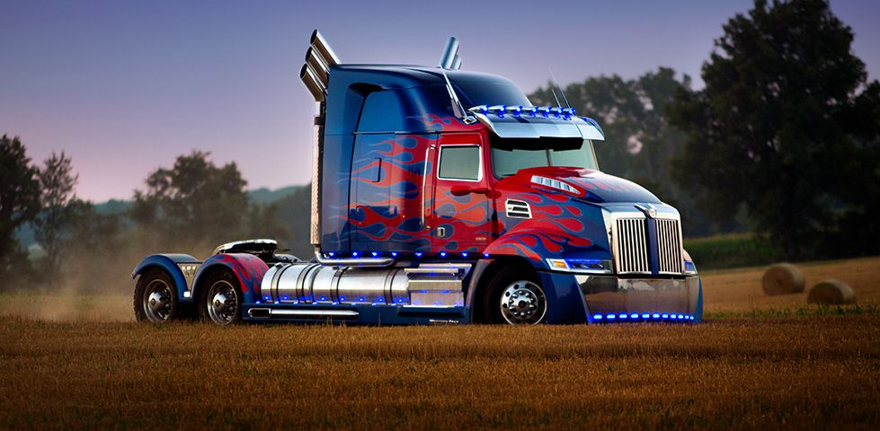 Optimus Prime in vehicle mode, from Transformers: The Last Knight