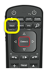 Back button on 52.0 remote (first button in the second row of four)