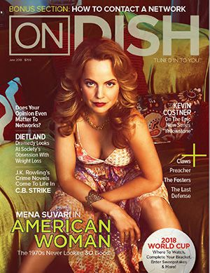 June 2018 cover of On DISH Magazine, featuring Mena Suvari in American Woman