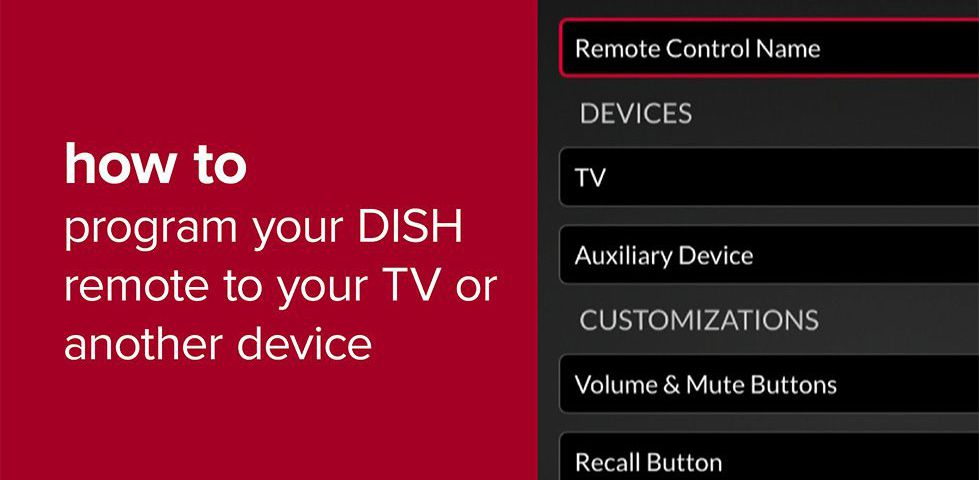 Still frame from video for programming your DISH remote to a TV