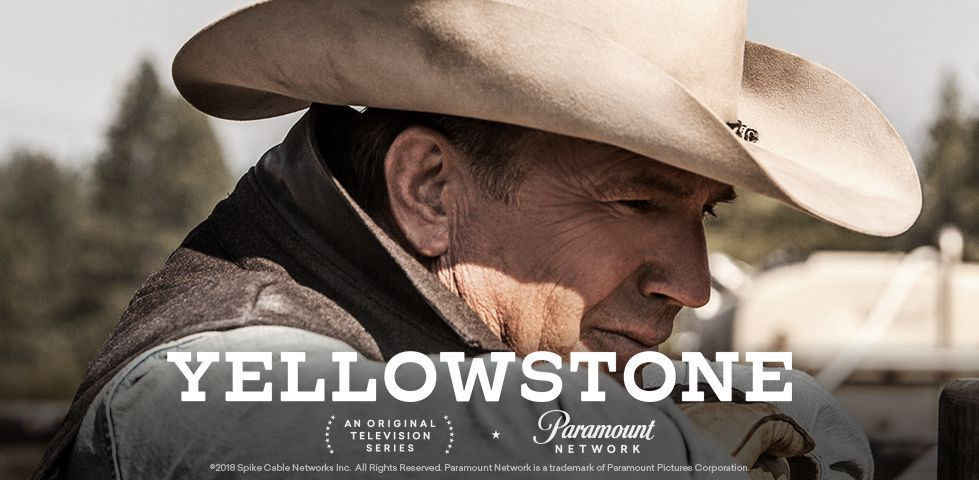 Kevin Costner in a wide-brimmed cowboy hat in YELLOWSTONE, on Paramount Network