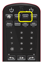 DVR button on 50.0 remote (third button in the top row of four buttons.)