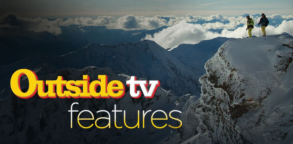 Outside TV Features - hikers on snow-clad mountains