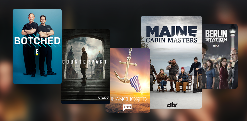 Featured content in December includes Botched, Counterpart, Unanchored, Maine Cabin Masters, and Berlin Station