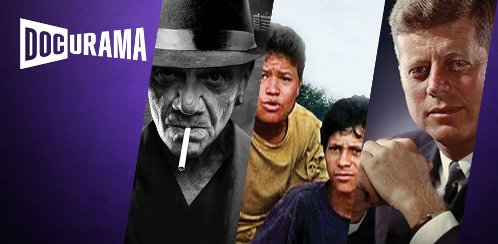 Docurama features documentaries like Gangster Empire and JFK
