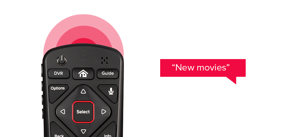 DISH Voice Remote receiving command for 'New Movies'
