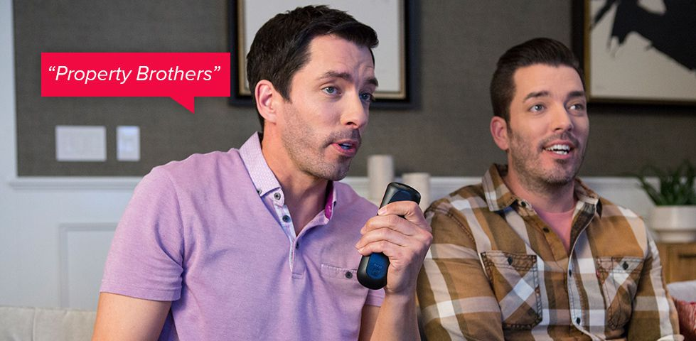 HGTV's Property Brothers using the DISH Voice Remote
