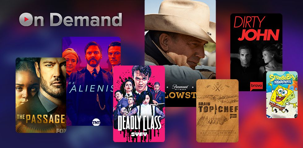 Collage of On Demand titles including The Passage, Deadly Class, and Top Chef