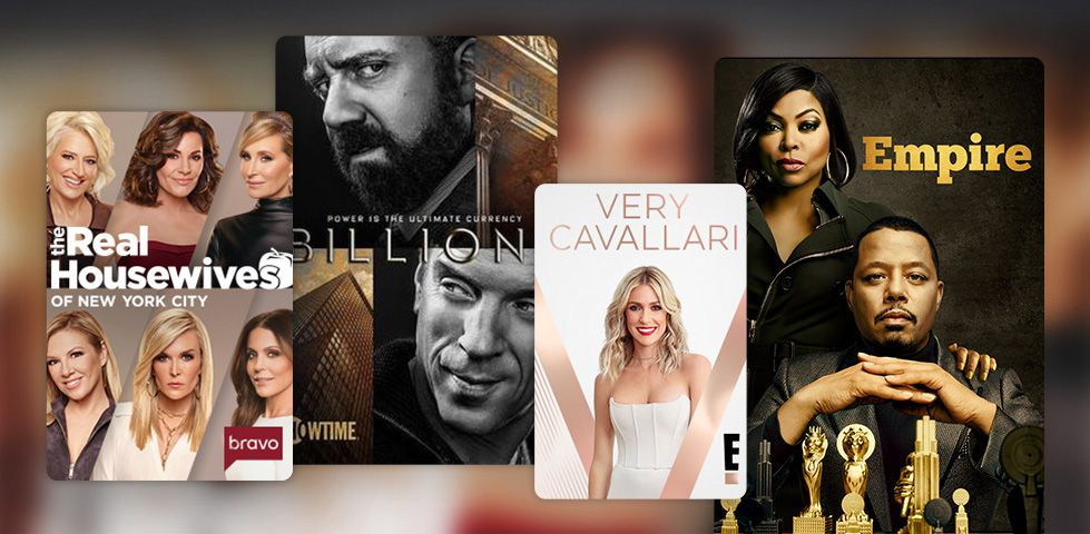 Featured content in March 2019 includes Real Housewives of New York City, Billions, and Empire.
