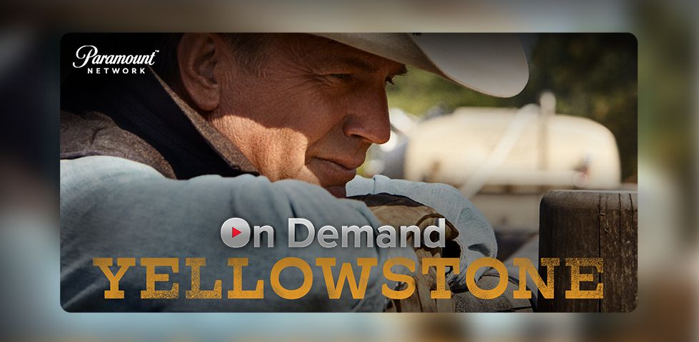 Kevin Costner in a cowboy hat on Yellowstone, from Paramount Network