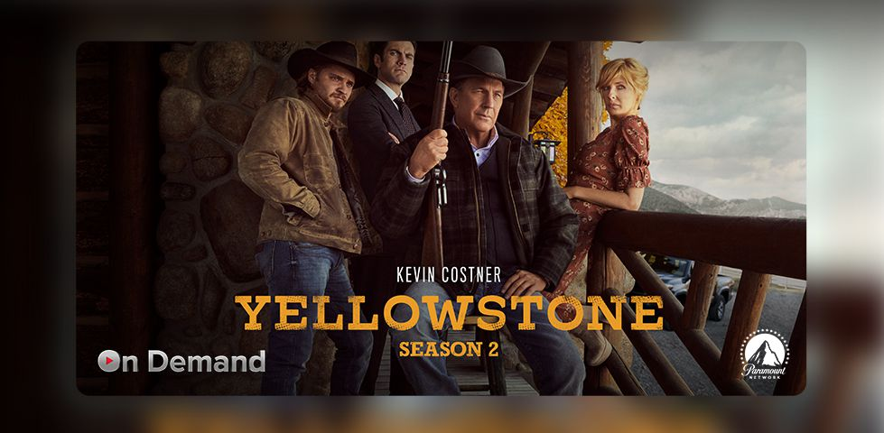 Kevin Costner stars in Yellowstone, On Demand on DISH