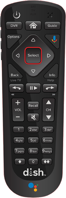 54 Series Remote Control Overview | MyDISH | DISH Customer